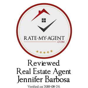 Top Rated Vancouver Real Estate Agent Badge for Jennifer Barbosa verified on 2018-12-20 by Rate-My-Agent.com
